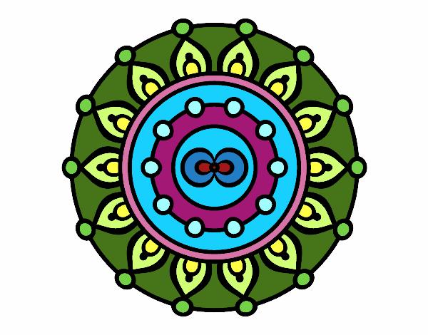 Dibujo De Mandala Meditación Para Colorear: Dibujo De Mandala Meditación Pintado Por Martanoemi En