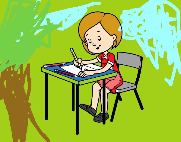 Dibujo De Niña En Su Pupitre Para Colorear: Dibujo De Escuela Tay Pintado Por En Dibujos.net El Día 09