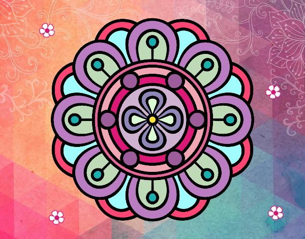 Dibujo de Mandala flor creativa pintado por Make en Dibujos.net el ...