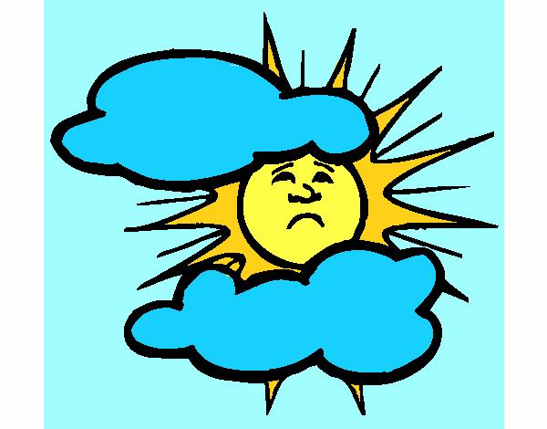 Dibujos Del Sol A Color: Dibujo De Sol Y Nubes Pintado Por En Dibujos.net El Día 17