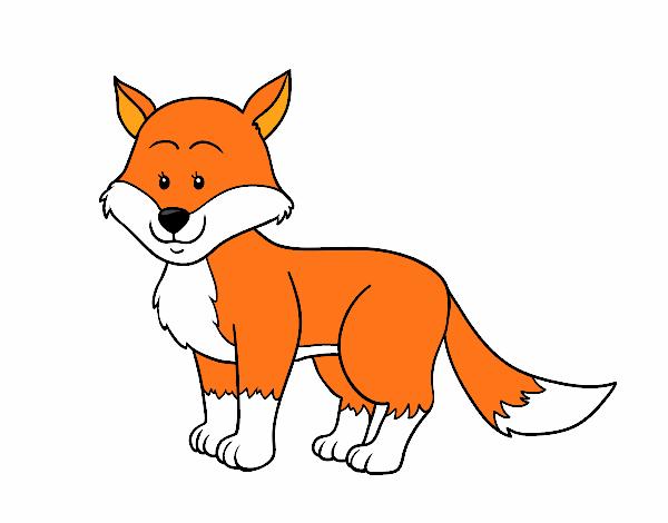 Dibujo de zorro pintad...