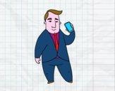 Dibujo Asesor financiero pintado por brendibu