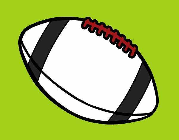 Dibujo De Jugador De Fútbol Con Balón Pintado Por En: Dibujo De Balón De Fútbol Americano Pintado Por En