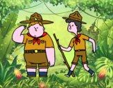 Dibujo Boy Scouts pintado por brendibu