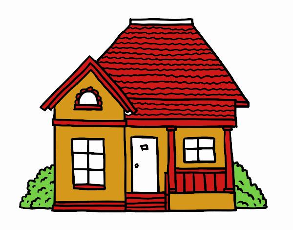 Dibujo de casita de campo pintado por en el - Dibujos de casas para imprimir ...