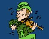Dibujo Duende tocando el violín pintado por amalia