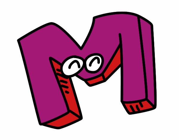 Dibujo de Letra M pintado por Rebb en Dibujos.net el día ...