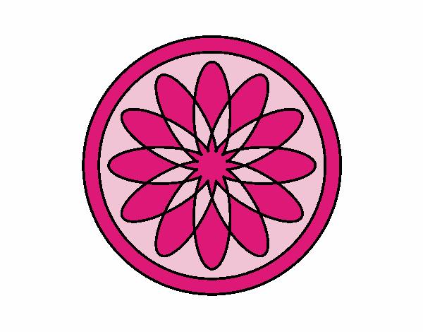 34 Mandalas Para Imprimir Y Colorear: Dibujo De Mandala 34 Pintado Por En Dibujos.net El Día 18
