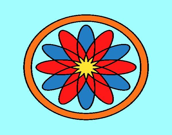 34 Mandalas Para Imprimir Y Colorear: Dibujo De Mandala 34 Pintado Por En Dibujos.net El Día 21