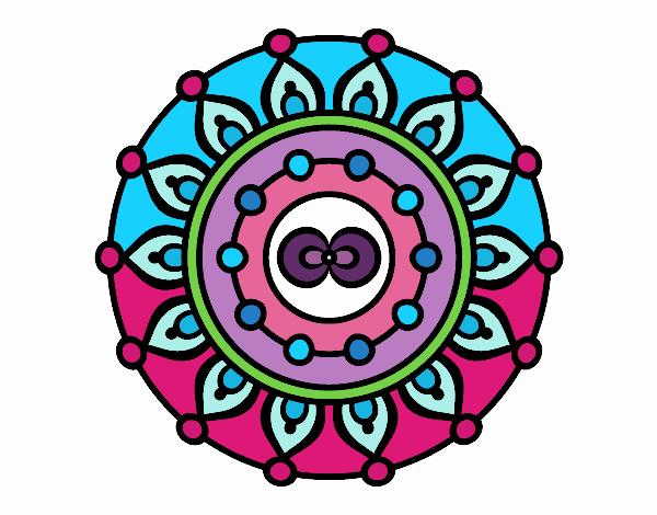 Dibujo De Mandala Meditación Para Colorear: Dibujo De Mandala Meditación Pintado Por En Dibujos.net El