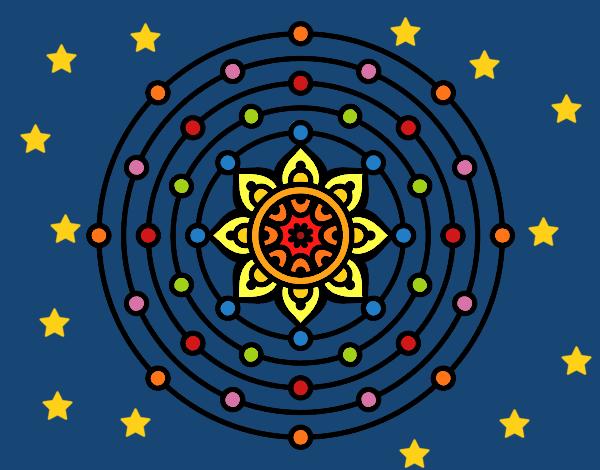 Dibujos Para Colorear Del Sistema Solar: Dibujo De Mandala Sistema Solar Pintado Por Sofi456 En