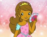 Princesa y abanico