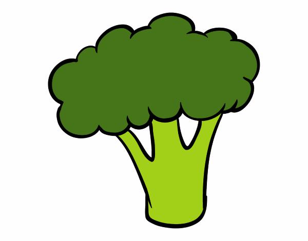 Dibujo de Trozo de brócoli pintado por en Dibujos.net el ...