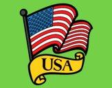 Dibujo Bandera de los Estados Unidos pintado por Stefanie02