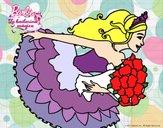 Dibujo Barbie en un saludo de agradecimiento pintado por BerthitaDZ