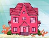Dibujo Casa de campo con balcones pintado por Bella-Luna