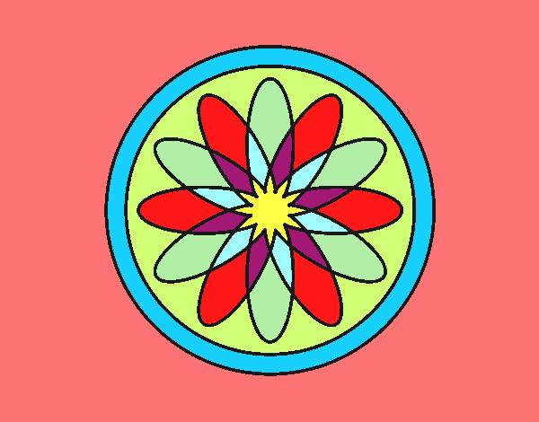 34 Mandalas Para Imprimir Y Colorear: Dibujo De Mandala 34 Pintado Por En Dibujos.net El Día 29