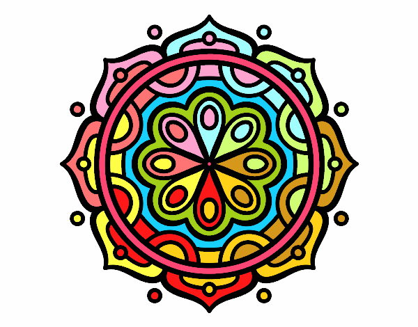 Dibujos De Mandalas Para Colorear Relajarse Y Meditar: Dibujo De Mandala Para Meditar Pintado Por En Dibujos.net