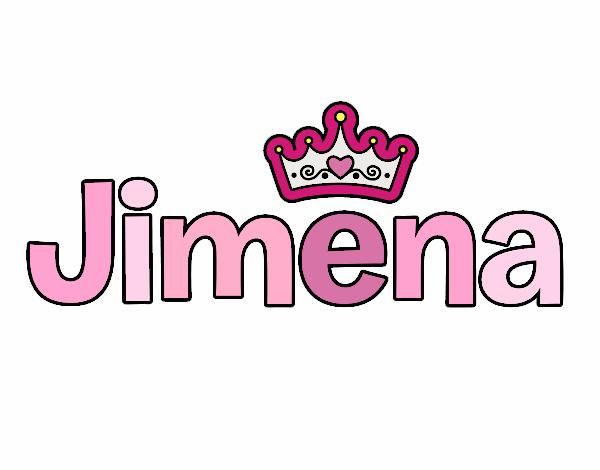 Dibujo de Nombre Jimena pintado por Jimenakawy en Dibujos.net el día ...