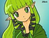 Dibujo Princesa Zelda pintado por annie9000