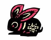 Dibujo Signo del conejo pintado por Lucchii