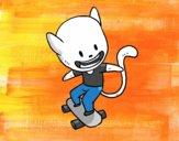 Dibujo Gato skater pintado por annie9000