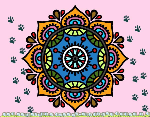 Dibujos De Mandalas Para Colorear Relajarse Y Meditar: Dibujo De Mandala Para Relajarse Pintado Por En Dibujos