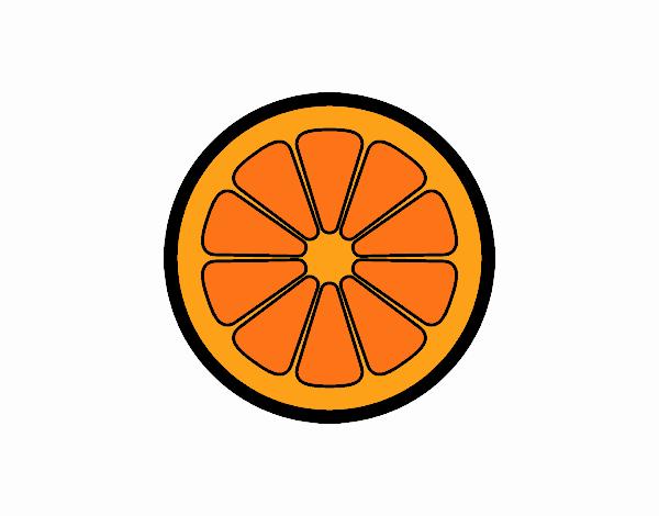 Dibujo de Rodaja de naranja pintado por en Dibujosnet el da 03