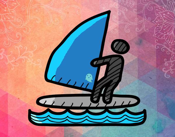 Dibujo De Señal De Windsurf Pintado Por Annie9000 En Dibujosnet El