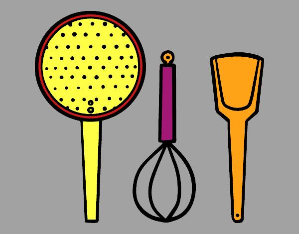 15 hermoso dibujos utensilios de cocina fotos o burro - Objetos de cocina ...
