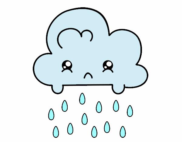 Dibujo de nuve triste pintado por en Dibujos.net el día 16-08-16 a las 21:44:35. Imprime, pinta ...