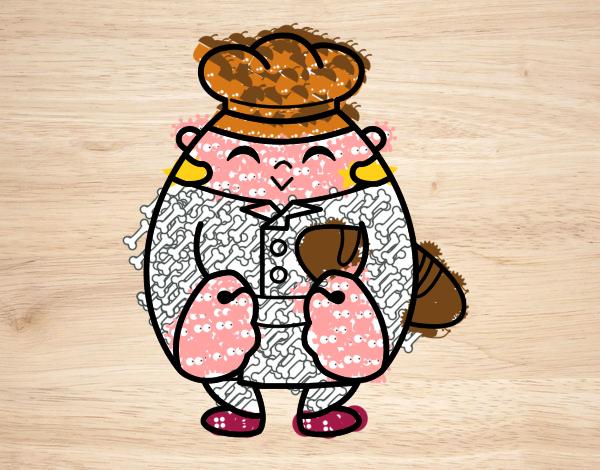Dibujo De Panadero Pintado Por En Dibujos.net El Día 15