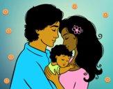 Dibujo Abrazo familiar pintado por maleja1101