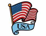 Dibujo Bandera de los Estados Unidos pintado por kurko40