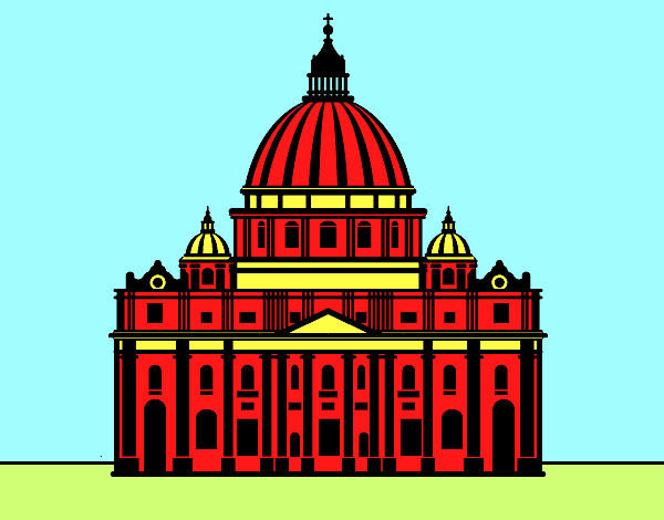 Dibujo De Basílica De San Pedro Del Vaticano Pintado Por