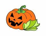 Calabaza Decorada de Halloween