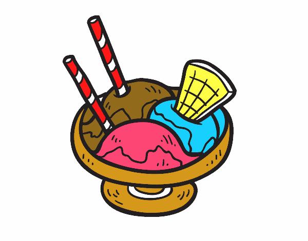 Dibujo de Copa de helado pintado por en Dibujosnet el da 2408
