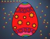 Huevo con estrellas