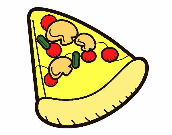 Dibujo de Porcin de pizza pintado por en Dibujosnet el da 2508