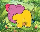 Un elefante africano