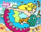 Dibujo Barbie en un saludo de agradecimiento pintado por vitilia
