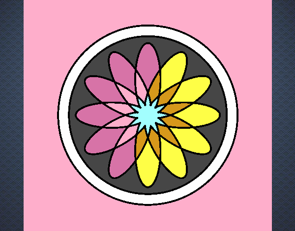 34 Mandalas Para Imprimir Y Colorear: Dibujo De Mandala 34 Pintado Por En Dibujos.net El Día 03