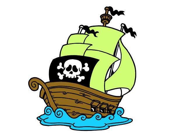 Dibujo de moza de pirata sexy