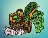 Dibujo Cesta de verduras pintado por fakita