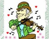 Dibujo Duende tocando el violín pintado por MariaSol77