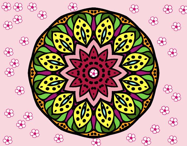 Dibujo de Mandala naturaleza pintado por Magydavid en Dibujosnet