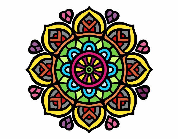 Dibujo de mandala para la concentraci n mental pintado por en el d a 09 09 16 a las - Colores para la concentracion ...