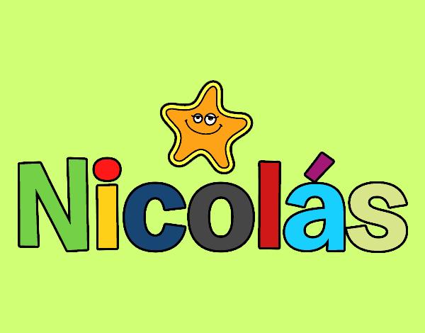 Dibujo de nicol s pintado por nicobelly en el - Nombres de ninos para colorear ...
