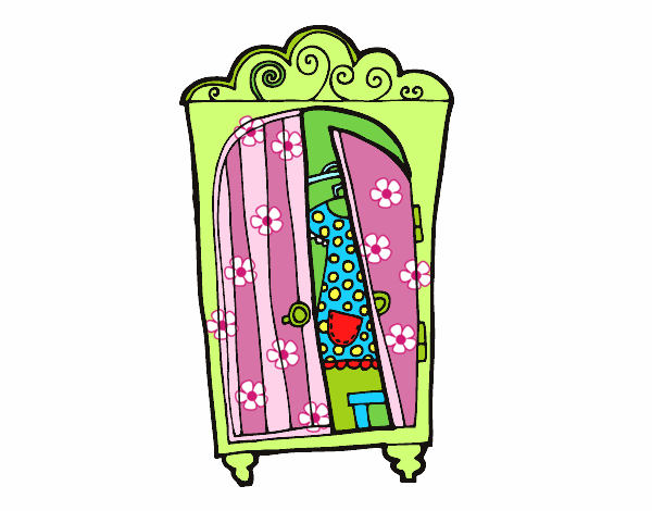 Armario Abierto Dibujo ~ Dibujo de Armario ropero pintado por Miatexi en Dibujos net el día 14 09 16 a las 13 23 15