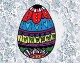 Dibujo Huevo de Pascua con corazones pintado por terrazas12